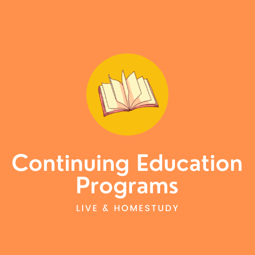 Continuing Education (CE Credits are offered for these programs)